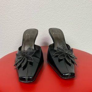 Linea Paolo heeled square toe Mule